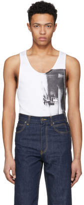 Calvin Klein White Printed Tank Top