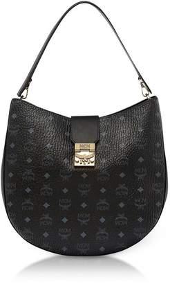 MCM Patricia Visetos Black Large Hobo Bag