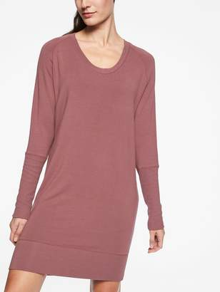 Athleta Nirvana V-Neck Sweatshirt Dress