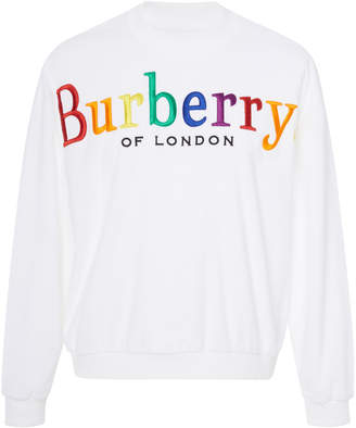 Burberry Embroidered Crewneck Sweater
