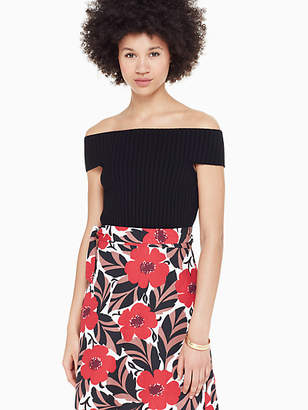 Kate Spade Off The Shoulder Sweater, Black - Size XL