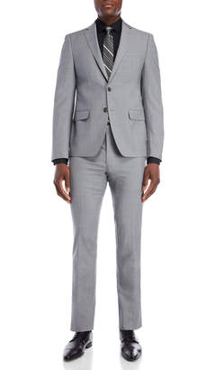Calvin Klein Two-Piece Light Grey Extra Slim Fit Suit