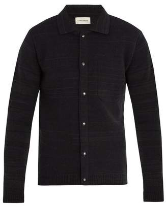 Oliver Spencer - Roxwell Striped Wool Knit Jacket - Mens - Green Multi