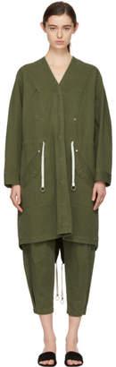 Alexander Wang Green Twill Coat