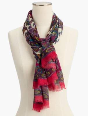 Talbots Luxe Paisley Scarf