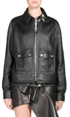 Saint LaurentSaint Laurent Oversized Leather Bomber Jacket