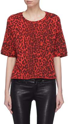 NSF 'Guero' leopard print French terry T-shirt