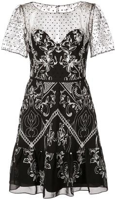 Marchesa short embroidered dress