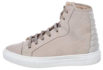 Fabiana Filippi Suede High-Top Sneakers