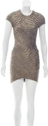 Torn By Ronny Kobo Metallic Plisse Dress