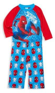 Little Boy's & Boy's Two-Piece Spiderman Tee & Short Set