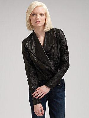 Graham & Spencer Draped Leather Jacket