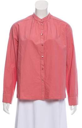 Tara Jarmon Long Sleeve Button-Up Top