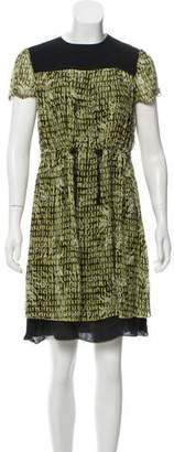 Proenza Schouler Short Sleeve Printed Dress