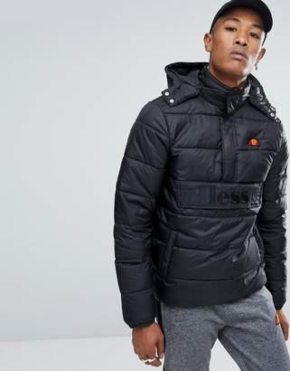 Ellesse Padded Overhead Jacket In Black