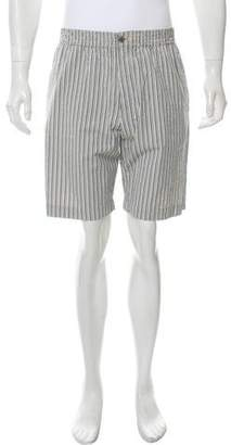 Hermes Striped Seersucker Shorts