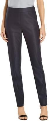 St. John Stretch Birdseye Skinny Ankle Length Pant