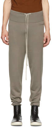 Rick Owens Grey Merino Prisoner Drawstring Lounge Pants