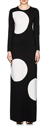 Lisa Perry Women's Polka Dot Ponte Gown - Black
