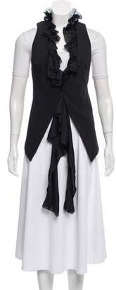 Elizabeth and James Black Ruffle Vest