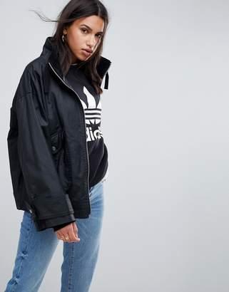 Asos DESIGN Waxed Rain Jacket