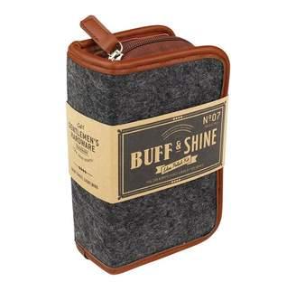 Gentlemen'S Hardware Shoe Shine Kit Grey