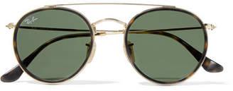 Ray-Ban Round-frame Gold-tone And Tortoiseshell Acetate Sunglasses