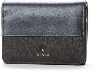 a.v.v (アー ヴェ ヴェ) - アー ヴェ ヴェ a.v.v 中ファスナー二つ折財布 (ブラック)