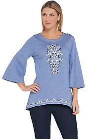 Belle by Kim Gravel Moroccan Embellished Top