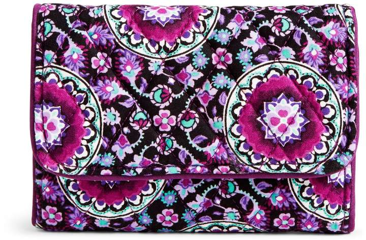 Vera Bradley RFID Riley Compact Wallet - PAISLEY STRIPES - STYLE