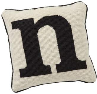 Pottery Barn Teen Alphabet Needlepoint Pillow, N