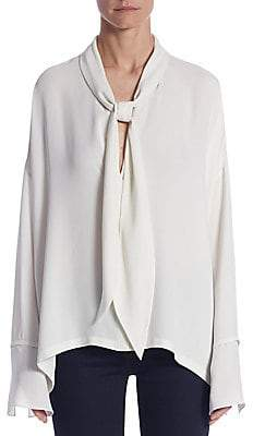 10bf26f47478b ... Saks Fifth Avenue · Theory Women s Plunging Silk Blouse