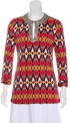 Tory Burch Embellished Silk Top