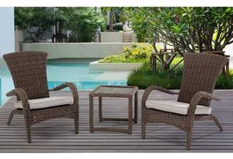 Rosecliff Heights Craner Wicker 3 Piece Bistro Set with Cushions Rosecliff Heights