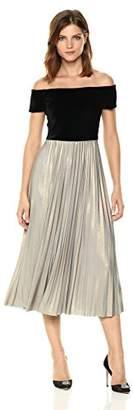 Donna Morgan Women's Off Shoulder Velvet Dress