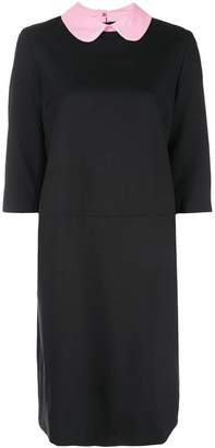 Marni contrasting collar dress