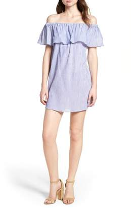 Bishop + Young BISHOP AND YOUNG Stripe Off the Shoulder Dress