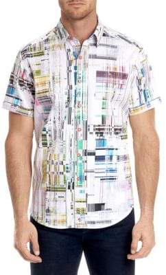Robert Graham Paracels Printed Cotton Button-Down Shirt