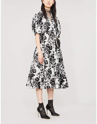Erdem Cressilda floral-print cotton and silk-blend midi dress