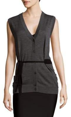 Prada V-Neck Wool Vest