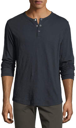 Theory Nebulous Long-Sleeve Henley T-Shirt