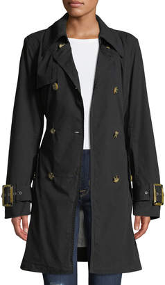 Raison D'etre Double-Breasted Trench Topper Jacket