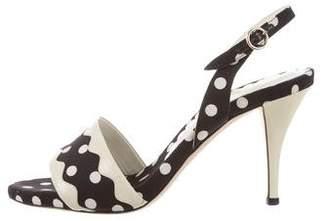 Saint Laurent Polka Dot Slingback Sandals