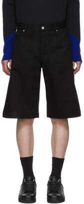 Bottega Veneta Black Cotton Drill Shorts