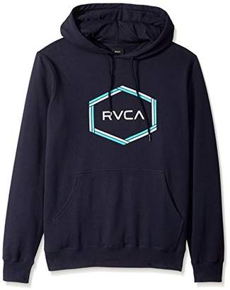 RVCA Men's Reflection Box Pullover Fleece Hooded Sweatshirt