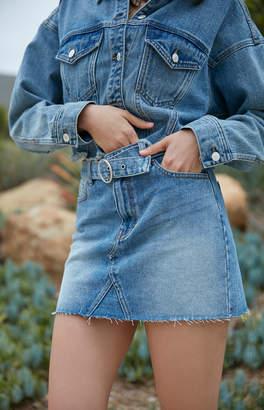 Pacsun Azora Blue Belted Skirt