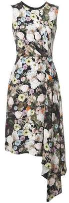 ADAM by Adam Lippes Floral Print Midi Dress