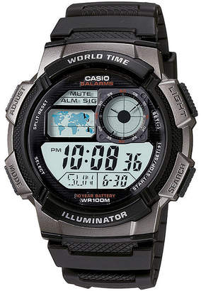 Casio Illuminator Mens Black/Gray Bezel Digital Sport Watch AE1000W-1BV