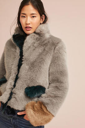 Molliolli Multitonal Faux Fur Coat