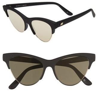 Women's Le Specs 'Kin Ink' 55Mm Sunglasses - Black Rubber/ Gold $69 thestylecure.com